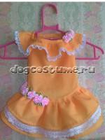 Украшение платья текстильные розочки
