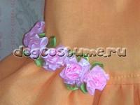 текстильные розочки