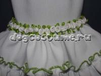 украшение платья - текстильные розочки